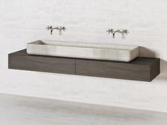 Lavabo doppio in pietra naturaleMERIDIAN VS150 - THE DAVANI GROUP
