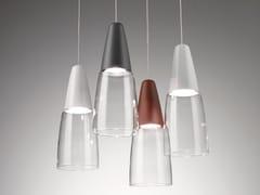 Lampada a sospensione in vetro borosilicato e metalloMERLINO - ZAFFERANO AILATI LIGHTS