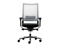Sedia ufficio girevole reclinabile in rete con braccioliEXPO 15 | Sedia ufficio - VAGHI