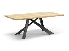 Tavolo da pranzo rettangolare in acciaio e legnoMETAL | Tavolo - ALTA CORTE