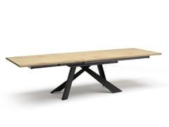 Tavolo da pranzo rettangolare in acciaio e legnoMETAL | Tavolo allungabile - ALTA CORTE