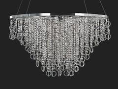 Lampada a sospensione in metallo con cristalliLISA | Lampada a sospensione in metallo - AIARDINI ILLUMINAZIONE