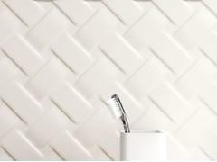 CERAMICA SANT'AGOSTINO, METROPAPER 3D-02 Rivestimento tridimensionale in ceramica a pasta bianca