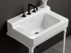 Lavabo a consolle rettangolare singolo METROPOLITAN | Lavabo singolo - Metropolitan