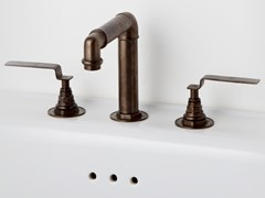 Rubinetto per lavabo a 3 fori da pianoINDUSTRIALIS | Rubinetto per lavabo a 3 fori - BLEU PROVENCE