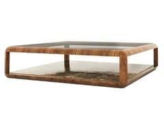 Tavolino basso quadrato in legno e vetroMEXA - ANA ROQUE INTERIORS