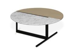 Tavolino basso rotondo in marmo MEZZO | Tavolino da caffè -
