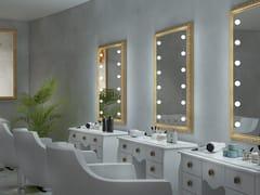 UNICA by Cantoni, MF BAROQUE Specchio rettangolare in legno da parete con illuminazione integrata