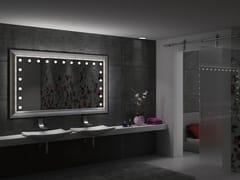 UNICA by Cantoni, MF LEGNO Specchio rettangolare in legno da parete con illuminazione integrata