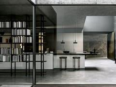 Cucina con isola in legno e gresMH6   Cucina con isola - MODULNOVA