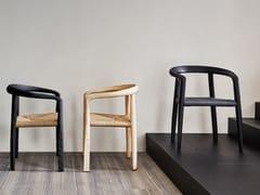 Sedia con braccioli in legno e cordaMHC.3 MISS   Sedia - MOLTENI & C.