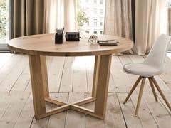 Tavolo da salotto rotondo in rovereMIAMI | Tavolo in legno - ALTA CORTE