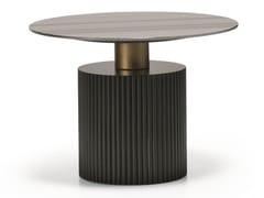 Tavolino alto rotondo in legno impiallacciatoMID N10-G - SCAPPINI & C. CLASSIC FURNITURE