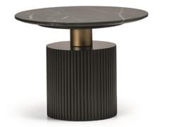Tavolino alto in legno impiallacciato e marmoMID N10-M - SCAPPINI & C. CLASSIC FURNITURE