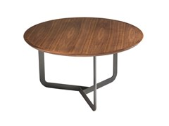 Tavolino da caffè rotondo in legnoMIKO - FARGO HONGFENG INDUSTRIAL