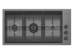 Piano cottura a gas filo top in acciaio inoxMILANELLO 3F FT GUNMETAL - FOSTER