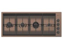 Piano cottura a gas filo top in acciaio inoxMILANELLO 4F FT COPPER BRONZE - FOSTER