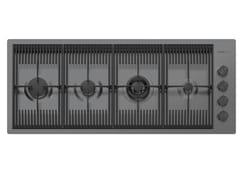 Piano cottura a gas filo top in acciaio inoxMILANELLO 4F FT GUNMETAL - FOSTER