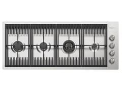 Piano cottura a gas filo top in acciaio inoxMILANELLO 4F FT INOX - FOSTER