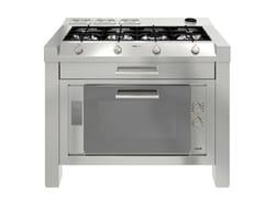 Modulo cucina freestanding in acciaio inox per piano cotturaMILANO 4F FINA.TE3V+1T - FOSTER