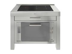 Modulo cucina freestanding in acciaio inox per piano cotturaMILANO 5 INDUZIONE 120cm - FOSTER