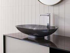 Lavabo da appoggio ovale singolo in cristalloMILANO | Lavabo ovale - ARTELINEA