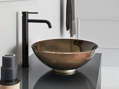 Lavabo da appoggio rotondo singolo in cristalloMILANO | Lavabo rotondo - ARTELINEA