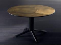 Tavolo rotondo in ottone MILLER | Tavolo in ottone - Miller