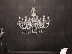 Lampadario a luce diretta in vetro con cristalli MILORD 8 - Milord