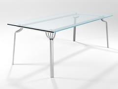 Tavolo da pranzo rettangolare in cristalloMING | Tavolo - BAREL