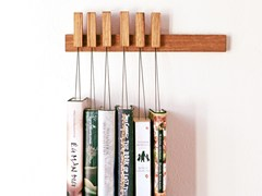 Libreria a parete in legno massello MINI BOOK RACK | Libreria in quercia -