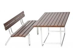 Tavolo per spazi pubblici rettangolare in legnoMINI PIC-NIC - EUROFORM K. WINKLER