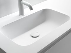 Lavabo in Ceramilux® con piano MINI ROUNDLUX -