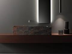Lavabo sospeso rettangolare in marmo Grey Saint LaurentMINIMUM | Lavabo in marmo - FALPER