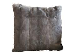 Cuscino a tinta unita quadrato in pelliccia MINK - Loveluxe