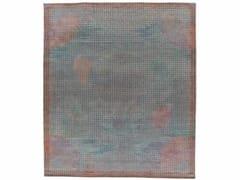 Tappeto fatto a mano rettangolare MIRAGE BLUE - Meteo