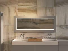 MOMA Design, MIRR WOOD Specchio con cornice da parete per bagno