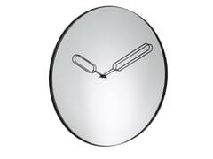 Orologio in vetro a specchio da pareteMIRROR CLOCK - ROSET SAS