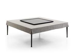 Tavolino quadrato in tessuto con vassoioMIRTO INDOOR | Tavolino con vassoio - B&B ITALIA