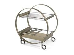 Carrello bar in acciaio e vetroMISS MARPLE - REFLEX