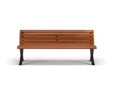 Panchina in legno con schienaleMISS W - METALCO