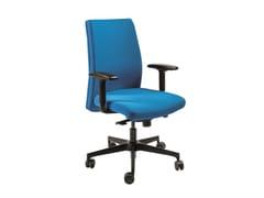 Sedia ufficio ad altezza regolabile in tessuto a 5 razze con braccioliMISSISSIPPI | Sedia ufficio - AP FACTOR