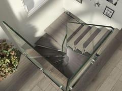 Scala a chiocciola in legno e vetro a pianta quadrataMISTRAL SPIRAL | Scala a chiocciola - SILLER TREPPEN