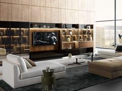 Parete attrezzata componibile con illuminazione integrata con porta tvCROSSING | Parete attrezzata con porta tv - MISURAEMME