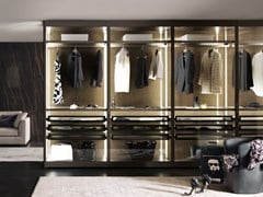 Cabina armadio angolare componibile con illuminazione integrataPALO ALTO | Cabina armadio con illuminazione integrata - MISURAEMME