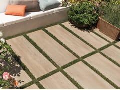 Pavimento per esterni in gres porcellanato effetto legno MITO BEIGE - Mito