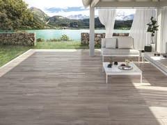 Pavimento per esterni in gres porcellanato effetto legno MITO BROWN - Mito