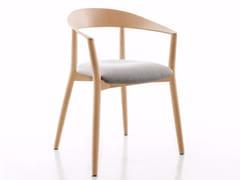 Sedia imbottita in legno massello con braccioliMITO | Sedia imbottita - CONMOTO BY LIONS AT WORK