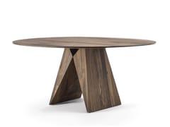 Tavolo rotondo in legno masselloMIYA - RIVA 1920
