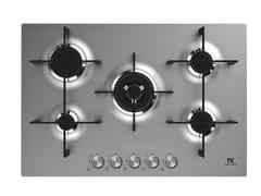 Piano cottura a gas in acciaio inoxMKHG 7541-EDS FTC XS - MIDEA KITCHEN APPLIANCES